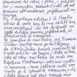 lettera di Maria Teresa Zecchin Simonetto per VENEZIA CON MURANO